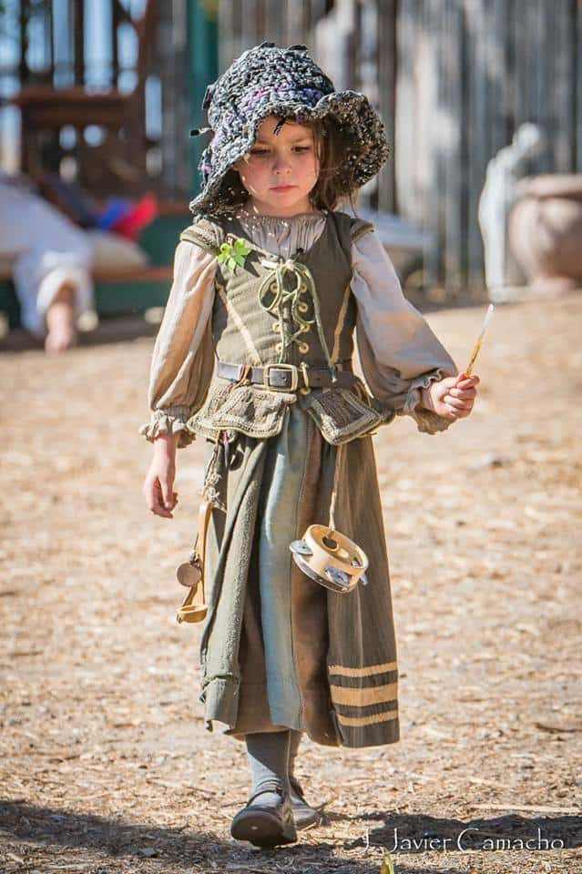 Child at the Renaissance Festival